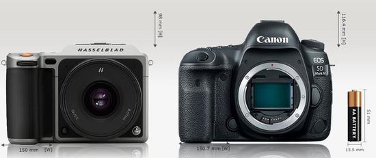 中画幅单电与全画幅单反相机对比