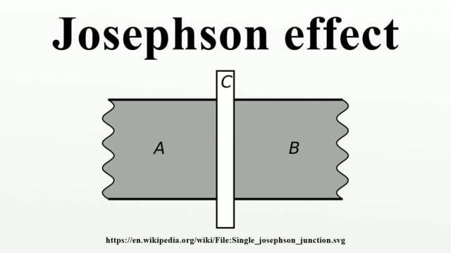 如果两段超导体中间夹了一层屏障。图片来源:wikipedia