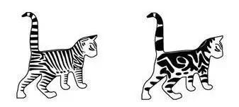 现代家猫(右)与野猫(左)的斑纹对比 来源:该研究论文