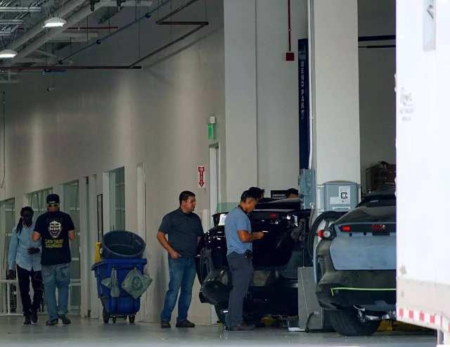 法拉第未来公司厂房,图片由本文记者提供