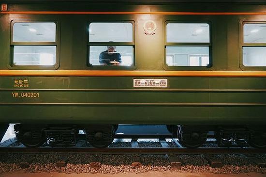 仿真度极高的K3次国际列车的车厢
