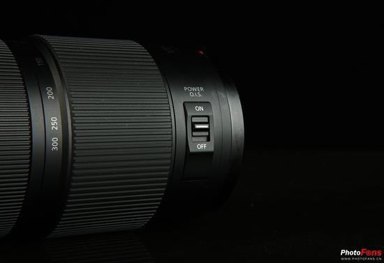 松下 LUMIX G VARIO 100-300mm F4.0-5.6 II POWERO.I.S.防抖开关