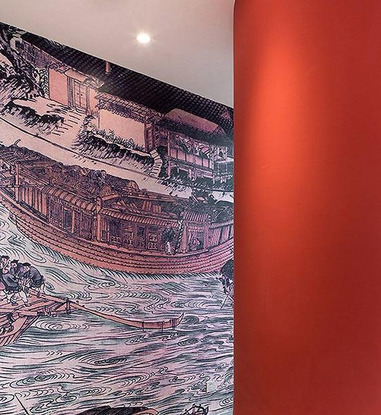 """猫途鹰""""燕京""""会议室里描绘中国古代航海的壁画"""