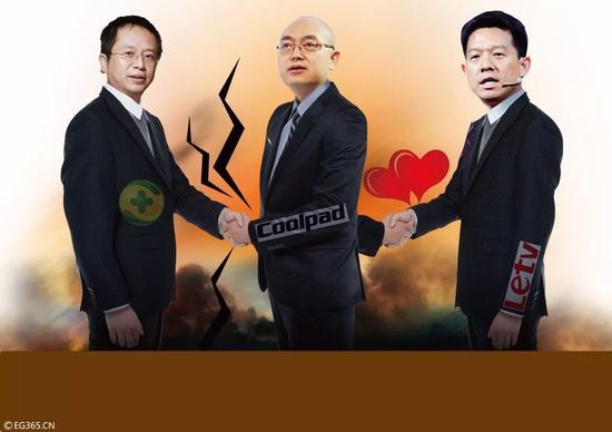 周鸿�t、郭德英、贾跃亭的三国杀。@视觉中国
