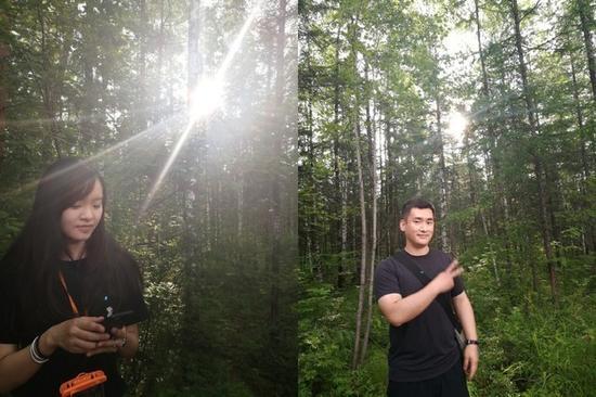 不会拍照的男朋友VS会拍照的女朋友(图片来自微博@神秘路人杨)