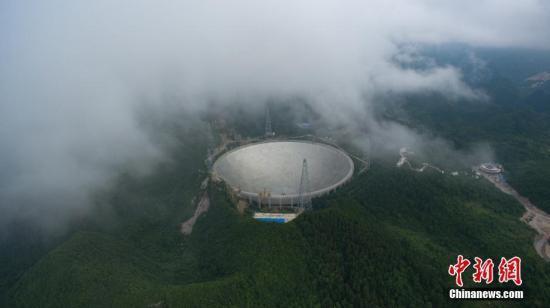 资料图:FAST望远镜。中新社记者 贺俊怡 摄