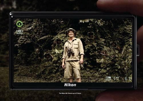 大家应该对这幅广告有印象吧?这是尼康S60卡片机在2008年的一组宣传。