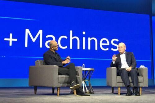 通用电气CEO约翰-弗兰内里和微软CEO萨蒂亚-纳德拉