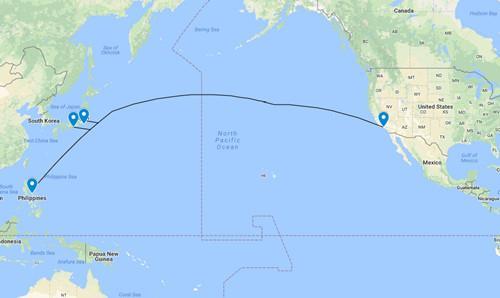 Jupiter海底电缆路线图