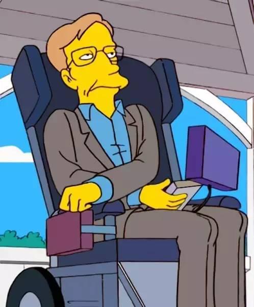 霍金出现在动画《辛普森一家》中