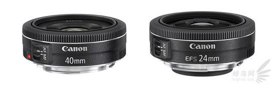 佳能两支饼干头 EF 40mm f/2.8 STM 和 EF-S 24mm f/2.8 STM