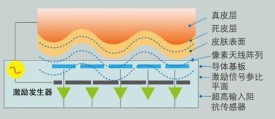 电容式指纹工作原理(图片来自网络)