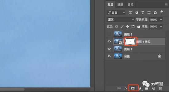 点击RGB,回到图层面板,点击蒙版;边缘蒙版生成