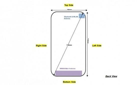 诺基亚1FCC认证资料上的手机尺寸信息(图片来自phonearena.com)