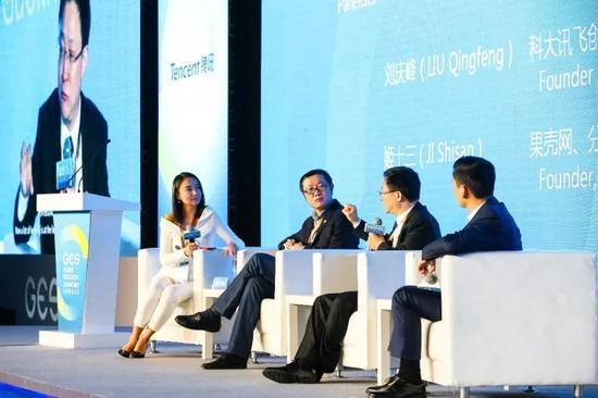 左起:姬少亭、刘慈欣、姬十三、刘庆峰