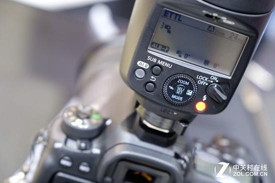 佳能470EX-AI细节操控区域展示