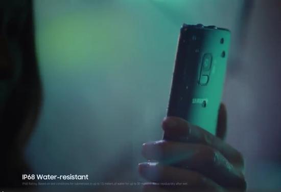 三星S9/S9+具备IP68级别的防水防尘