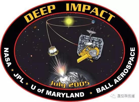 """""""深度撞击""""探测计划任务徽标来源:NASA"""