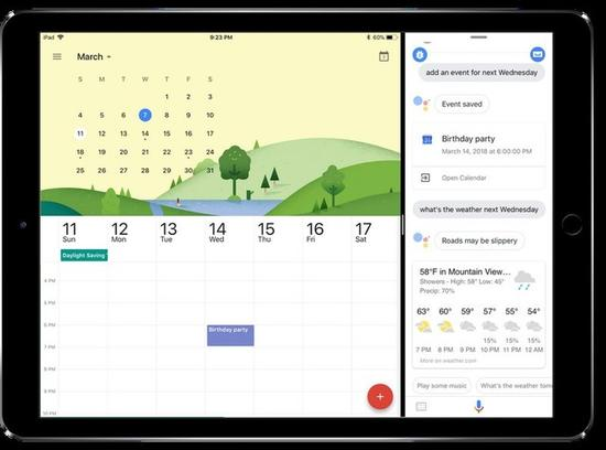 谷歌助手登录ipad平板:优势超过Siri(图源:Theverge)