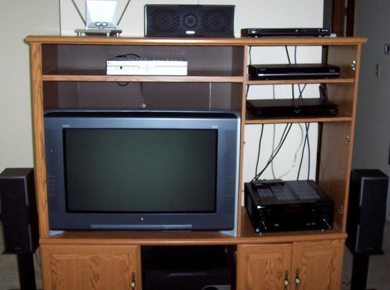 过去家庭影院的显示设备还是CRT电视