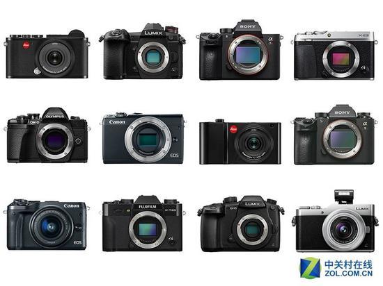 2017年公布的12款微单相机