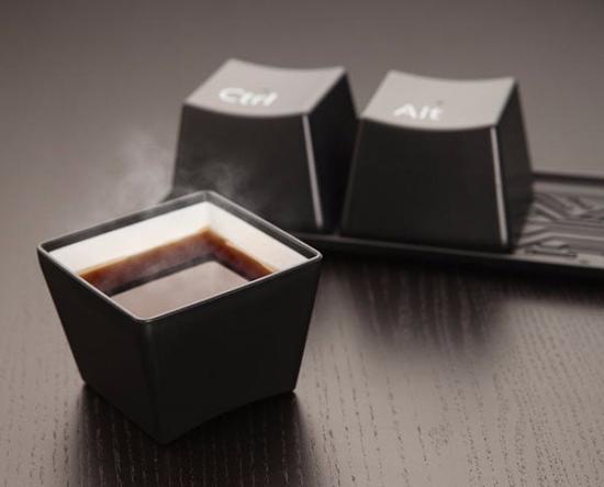 超大号的键盘――杯子。