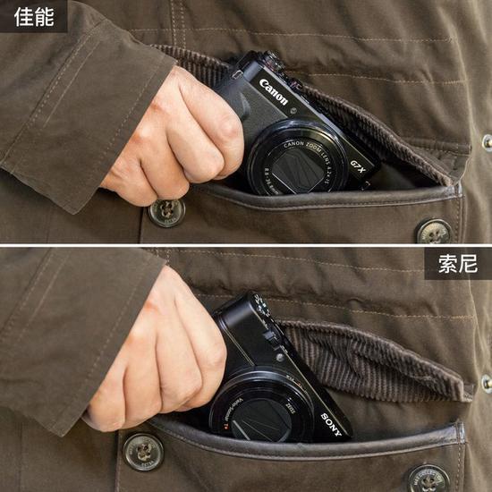 对于1英寸便携机型而言,放入口袋里同样毫无压力