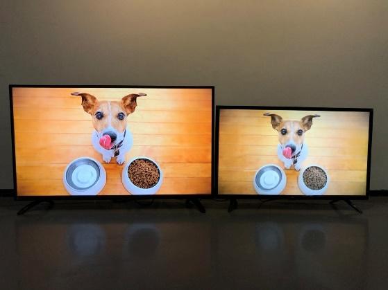 40寸电视与32寸电视对比