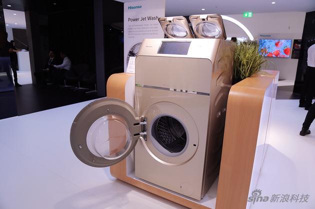 海信全球首创一机三筒洗衣机