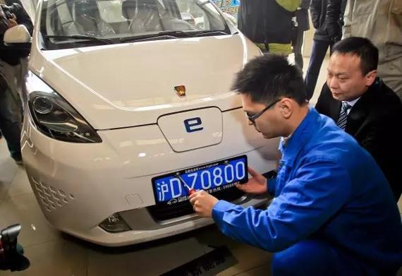 新能源车能在一定程度上解决共享汽车牌照难题。@视觉中国