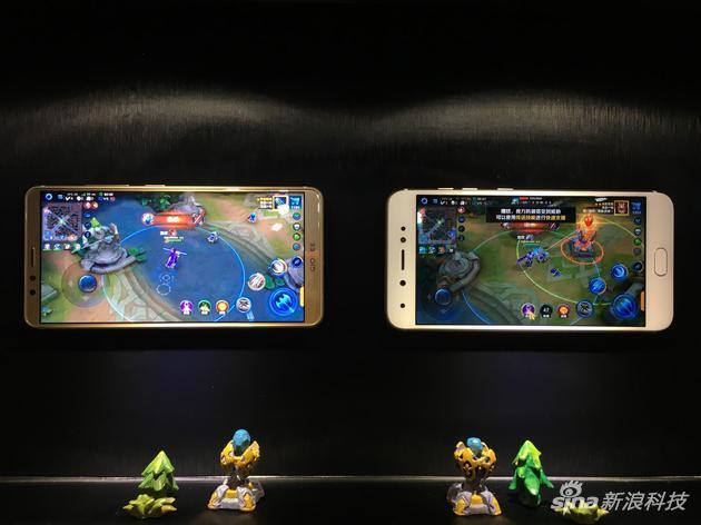 金立手机与非全面屏手机游戏对比