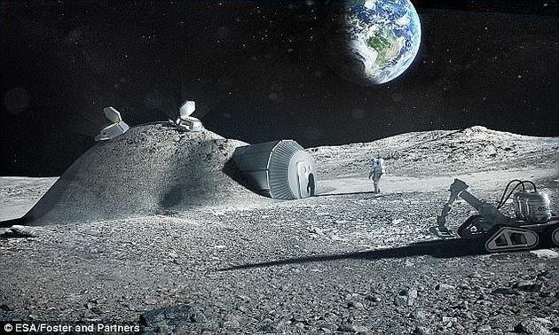 一位顶级太空科学家声称,未来几十年,孩子将在月球上诞生,2050年将出现整个家庭加入欧洲航天局的月球人类基地。