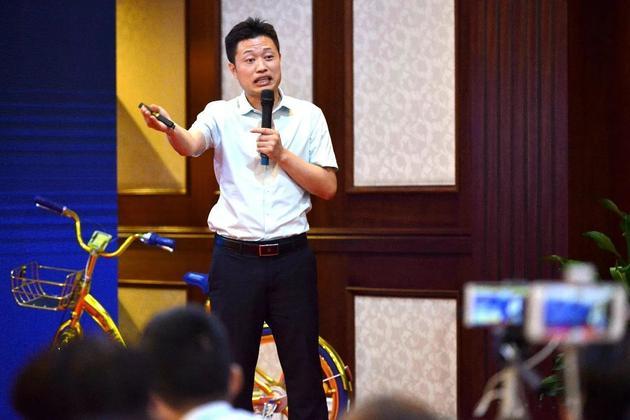 酷骑单车创始人高唯。@视觉中国