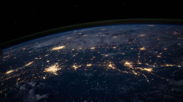 图为美国东海岸夜景