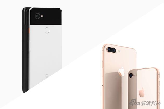 Pixel 2 XL 对比iPhone 8 Plus