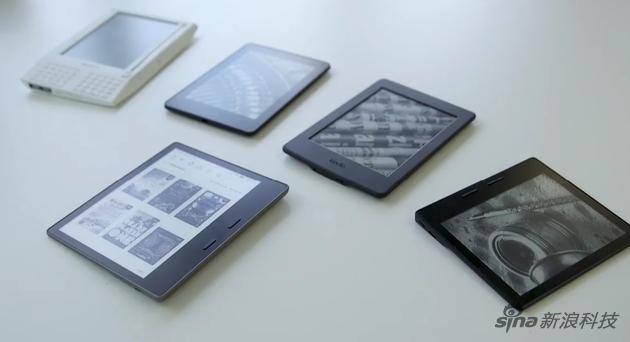 新版Kindle Oasis最下跟其他旧款比较