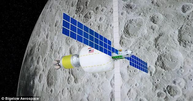 """毕格罗航天公司与联合发射联盟公司建立合作关系,将于2022年发射一个膨胀太空站抵达低月球轨道,提供一个""""月球航空站"""",为美国宇航局训练宇航员提供基地。"""