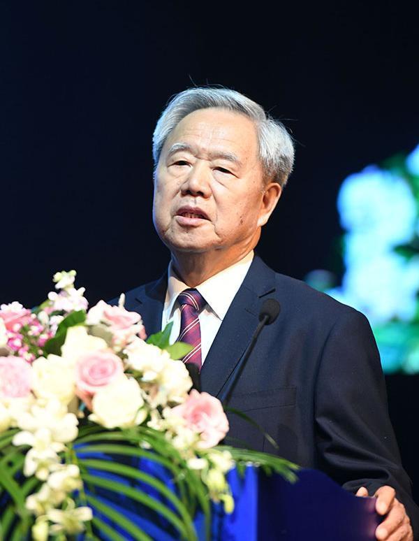 原铁道部部长、中国工程院院士傅志寰作主旨演讲。  东方IC 图