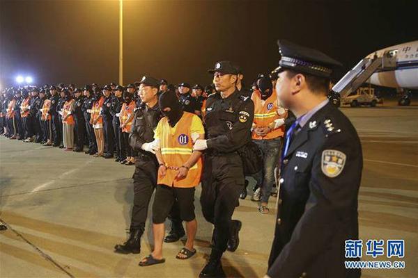 民警将犯罪嫌疑人押解下飞机  新华网 图