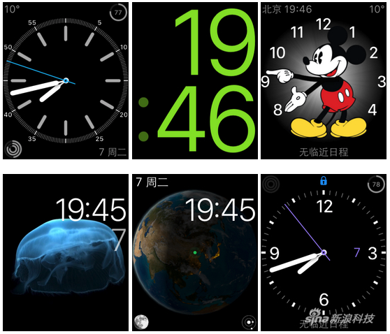 目前Apple Watch上的表盘