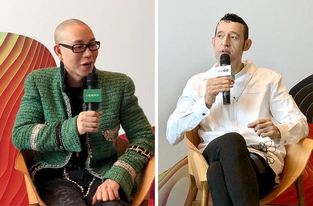Zing(左)和 Karim Rashid