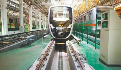 北京中关村丰台园企业交控科技研发的国内首条无人驾驶地铁燕房线。资料图片
