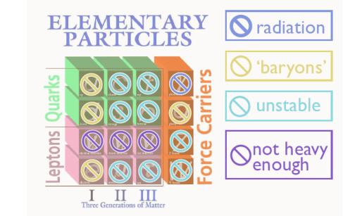 标准模型中的所有基本粒子与暗物质粒子性质均不吻合
