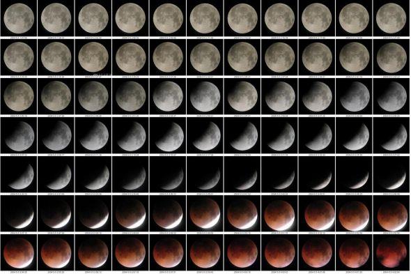 2004年5月5日,我拍的月全食前半程组图。