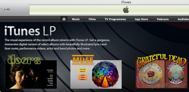 iTunes LP的界面
