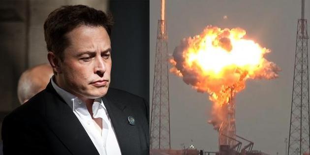 """2016年9月,一枚""""猎鹰9号""""火箭在发射架上发生爆炸,这可能是埃隆・马斯克最不希望看到的情景。"""