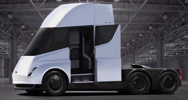 特斯拉此前公布的电动卡车