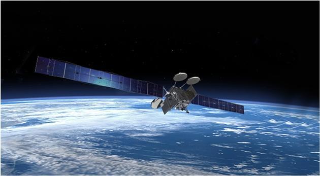 美国卫讯-2卫星在轨示意图