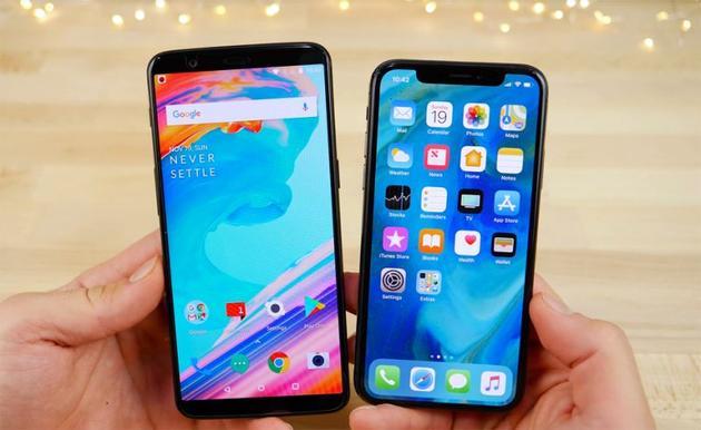 一加5T和iPhone X