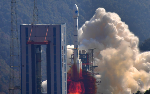 """2018年2月12日13时03分,西昌卫星发射中心,长征三号乙运载火箭,以""""一箭双星""""方式成功发射了我国第二十八、二十九颗北斗导航卫星,这也是我国北斗全球系统第五、六颗组网卫星。"""